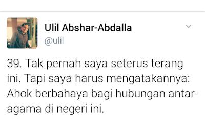 Ini Kata Ulil Soal Sikap Ahok Pada Kiai Makruf Amin