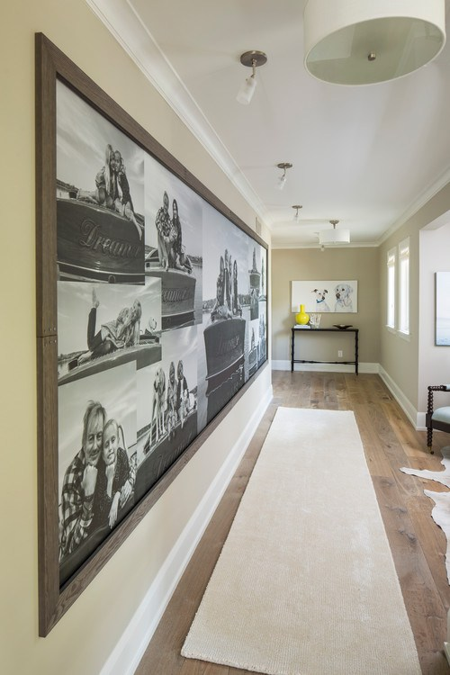photo wall mural, displaying photos