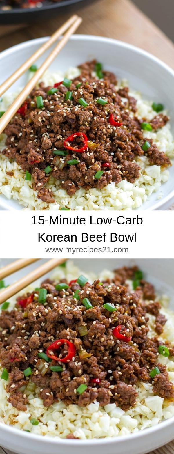 15-Minute Low-Carb Korean Beef Bowl
