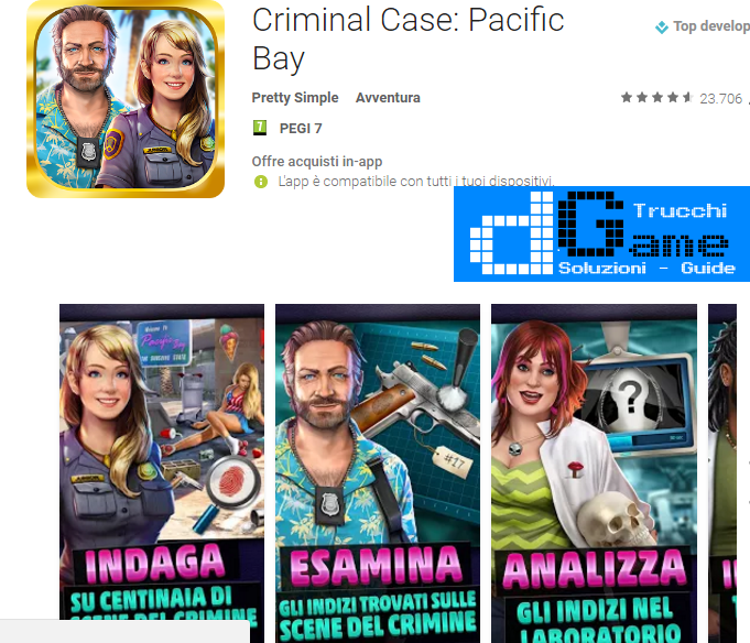 Trucchi Criminal Case: Pacific Bay Mod Apk Android