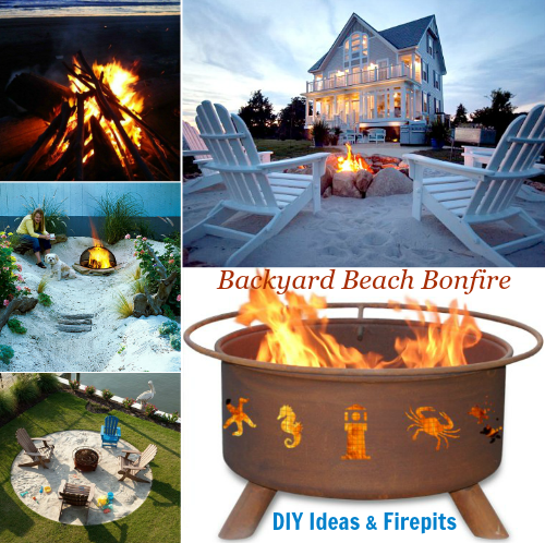 Firepit Ideas for a Beach Backyard