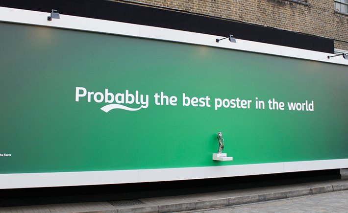 Carlsberg, probably the best poster in the world, probablemente el mejor poster del mundo