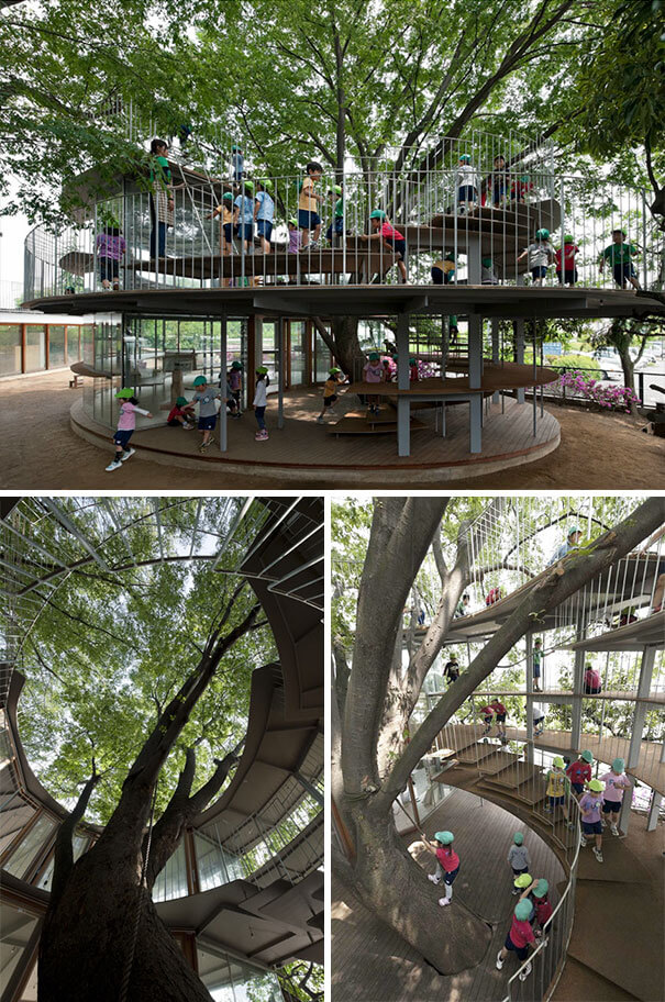 30 Extremely Intelligent School & University Ideas That Will Make You Jealous - This Japanese Kindergarten Is Built Around A Tree