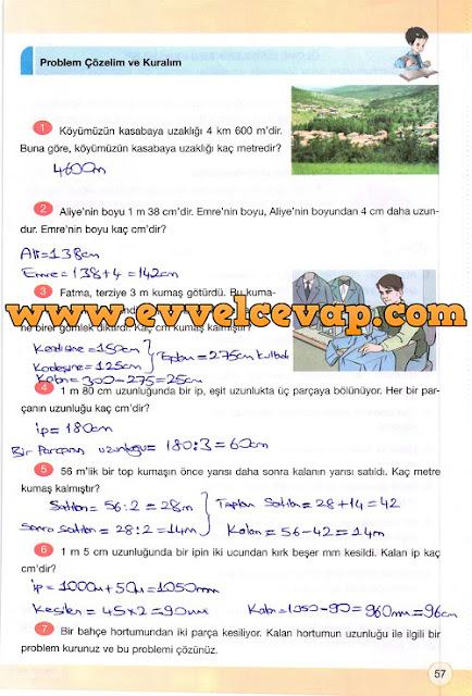 4. Sınıf Yakın Çağ Yayınları Matematik Çalışma Kitabı 57. Sayfa Cevapları