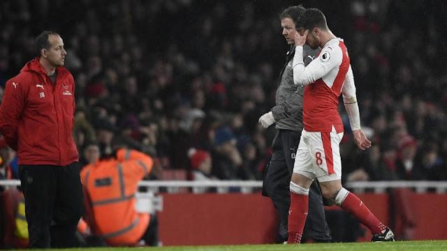 Arsenal Kalah, Ramsey Cedera