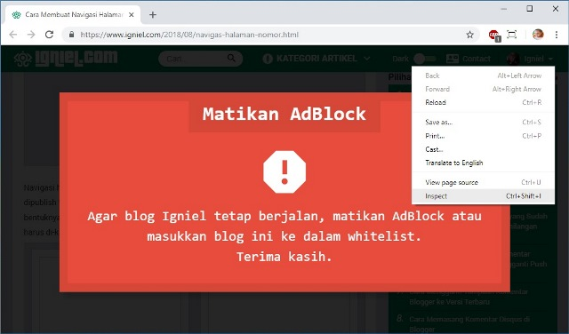 cara bypass anti adblock