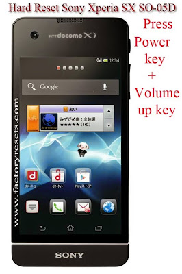 Hard Reset Sony Xperia SX SO-05D