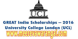 GREAT-India UCL Scholarships 2016 M.Sc Program Apply online at ucl.ac.uk