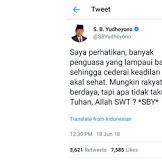 PDIP Tersinggung Berat dengan Tweet SBY