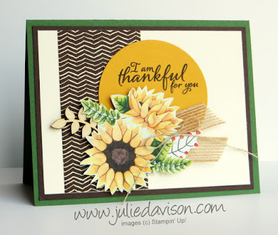 Stampin' Up! Painted Autumn Harvest Card for Thanksgiving ~ 2017 Holiday Catalog ~ www.juliedavison.com