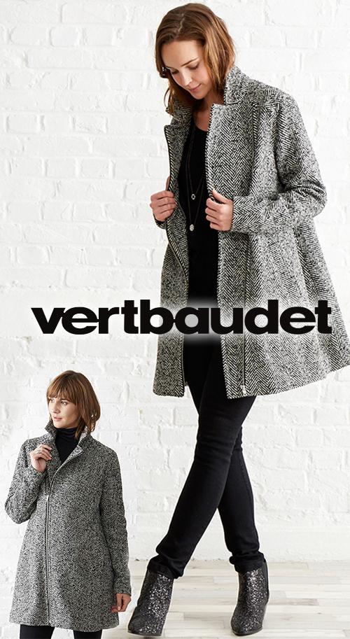 Manteau femme motifs chevrons de grossesse évolutif VERT BAUDET