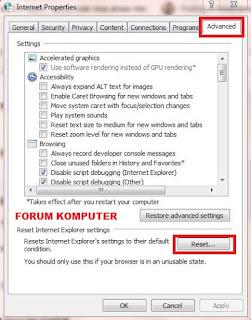 Cara mengatasi komputer, laptop tidak bisa akses internet