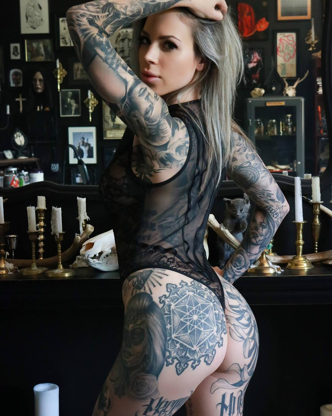 model tattoo Lauren Hebert