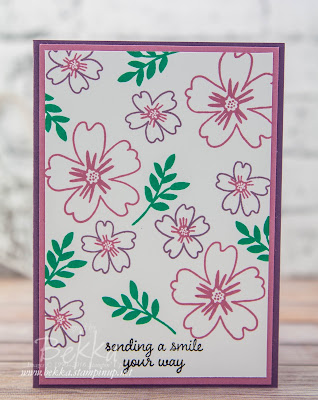 Make in a Moment - Love And Affection Floral Card featuring the new Stampin' Up! In Colors.  Buy them here from 1 June 2016