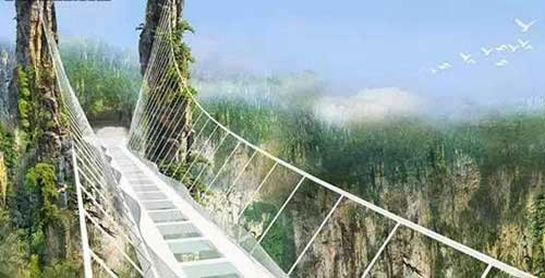 Zhangjiajie Skywalk, Hunan, China.