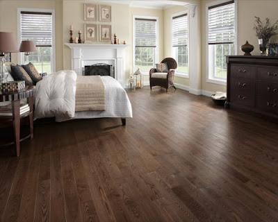 Sàn gỗ tự nhiên chiu liu lắp đặt ở phòng ngủ