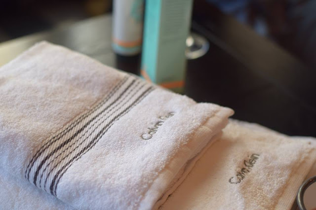 Calvin Klein towels at The Hut Summer Event