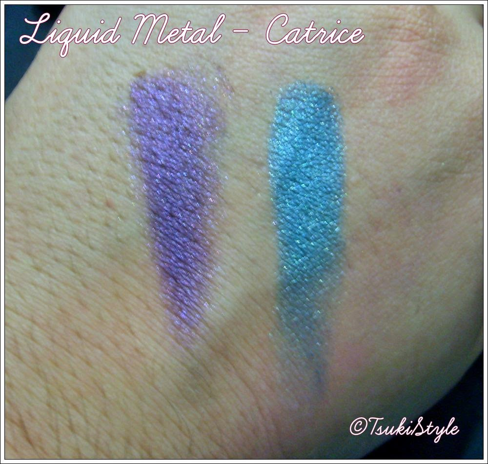 liquid metal eyeshadow swatches