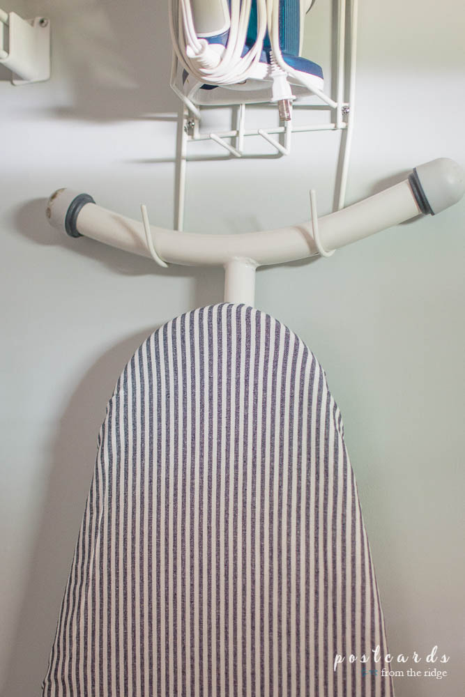 ticking ironing board cover from Pottery Barn