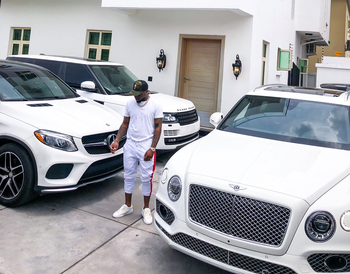 Davido shows off his expensive fleet of cars