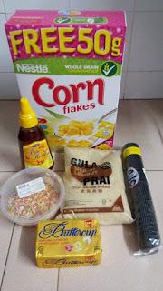 Resepi Cornflakes Madu Rangup