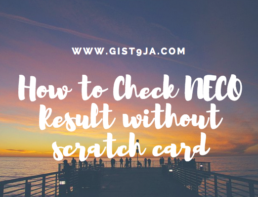 how to check NECO result without scratch card