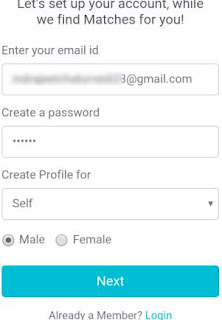 Shaadi com sign up