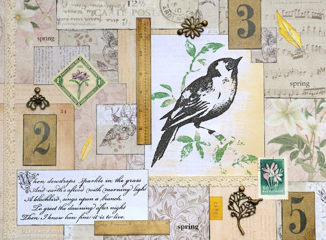 bird collage by Jo of LetsArtJournal