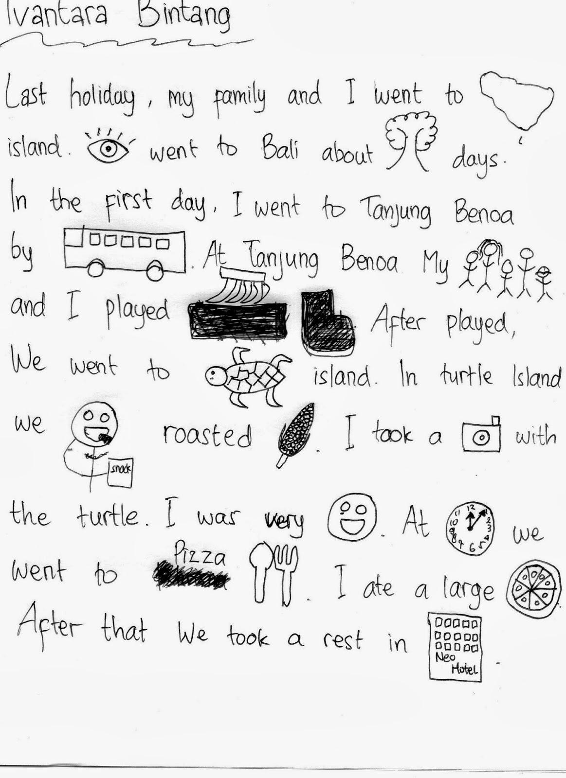 Cerita Liburan Semester Dalam Bahasa Inggris
