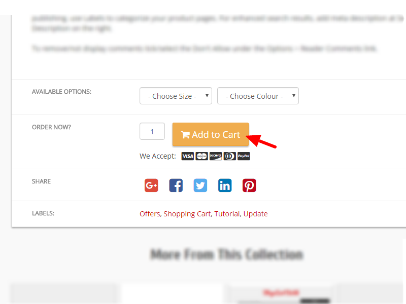 New Product Attributes Display