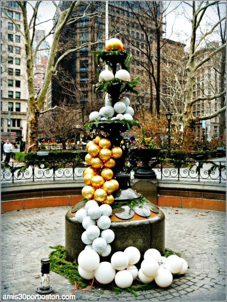 Adornos de Navidad en Madison Square