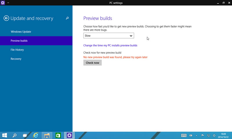 【Windows Technical Preview】ビルド9860 4