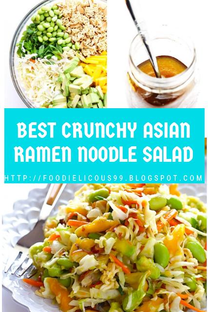 BEST CRUNCHY ASIAN RAMEN NOODLE SALAD
