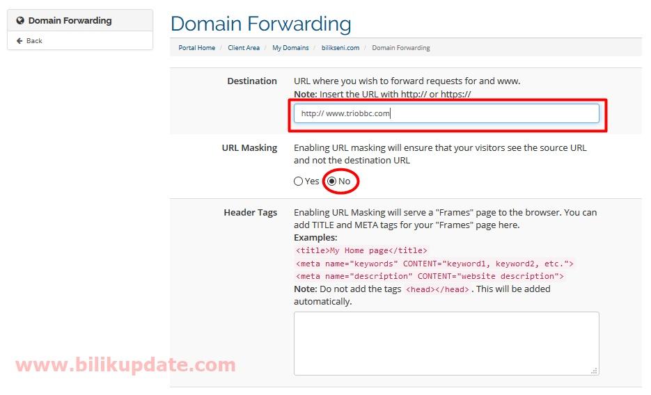 Cara Redirect Domain Ke Domain Yang Lain Melalui Domain