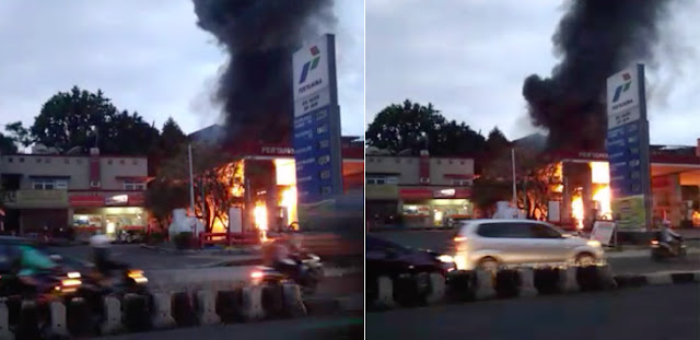 SPBU Jambu Dua Bogor Terbakar, Lihat Videonya