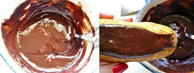 glacage au chocolat pour éclairs