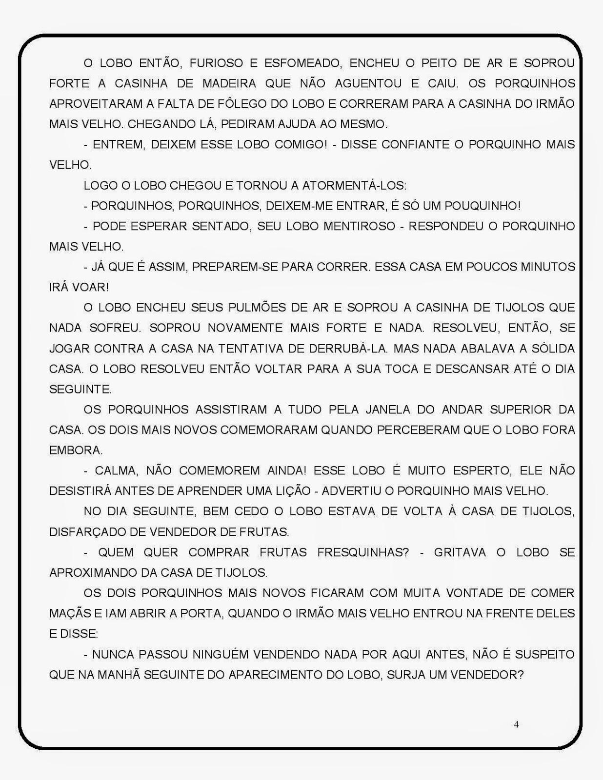 Diario De Um Educador Projeto Didatico Reescrita Do Conto Os