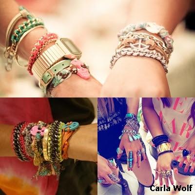 tendência de mix de pulseiras