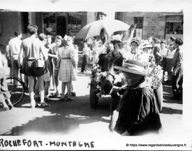 fête à Rochefort-Montagne août 1946.