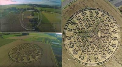 Εντυπωσιακός σχηματισμός αγρογλυφικών στο Ηνωμένο Βασίλειο