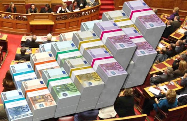 Αποτέλεσμα εικόνας για κρατικής οικονομικής ενίσχυσης ανά κόμμα