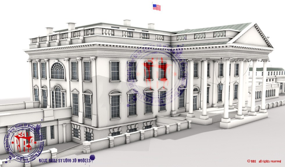 SketchUp - White House 3d Model Home Insurance and -Water