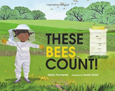 These Bees Count! by Alison Formento, part of children's book review list about bees