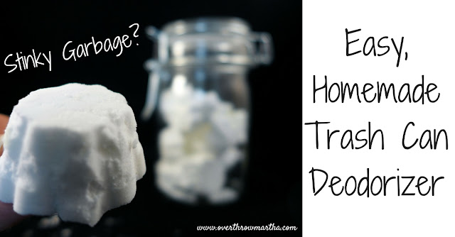 Easy DIY Trash Can Deodorizers will keep your kitchen smelling fresh and clean