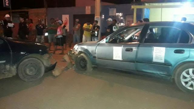 Colisão entre veículos deixa condutor ferido na Capital Porto Velho