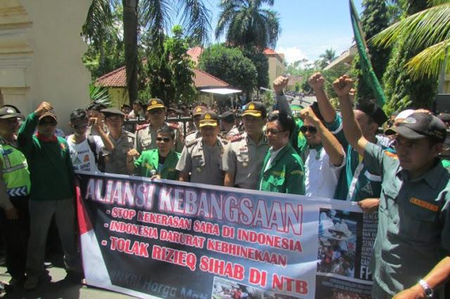 Pemuda NW dan NU Lombok Tolak Kedatangan Habib Rizieq