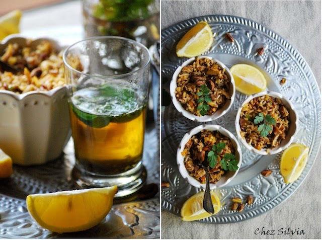 arroz marroquí con pollo especiado