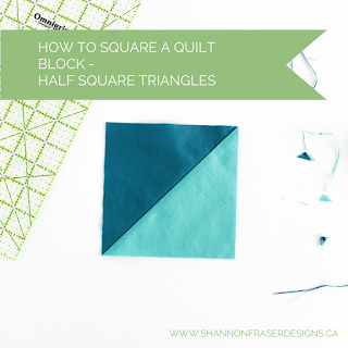 Tutorial: How to square up a Half Square Triangle quilt block | Shannon Fraser Designs