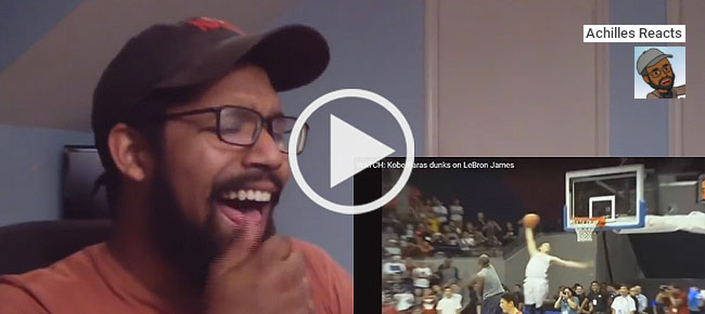 Watch the Reaction of YouTuber 'Achilles Reacts' watching Highlights of Kobe Paras (VIDEO)