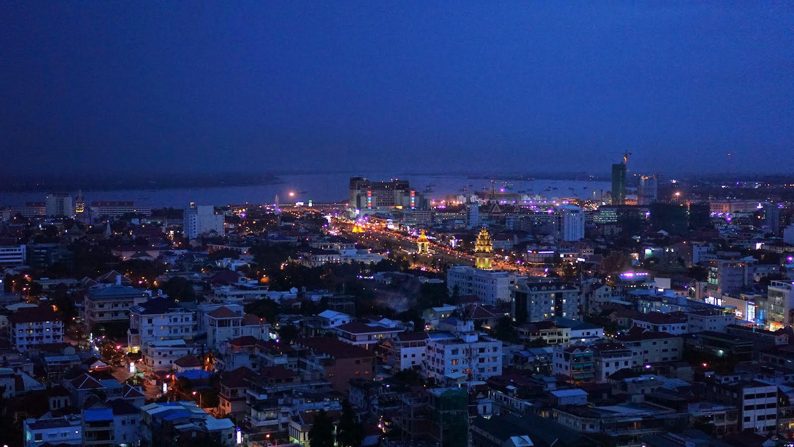 Another view of Phnom Penh from the skybar